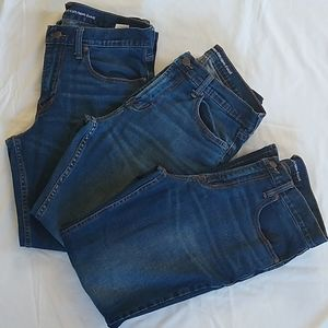 Lot of 3 Old Navy bootcut dark wash jeans
